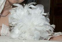 Ramos de novia. Nadin / De tela, cristales swarosky, plumas,y pistilos nacarados
