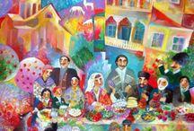 грузинская декоративная живопись