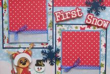 First snow scrapbook page