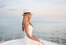 yacht wedding shoot