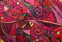 Modern Art: Pink & Purple