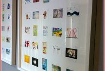 Kid's Stuff / We have a lot of fun finding new and creative ways to frame art and other items for kids.