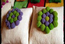 Almohadones tejidos en telar