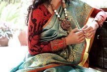 silk saree full sleeve