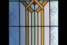Stained glass, art deco, arts & crafts