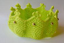 crown headband / knitted and crochet girl crown headband
