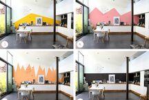 ASTUCES DÉCORATION / Des jeux de peintures au mur pour changer l'optique...et autres idées déco astucieuses !