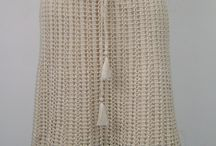 Skirts / manual crocheted or knitted skirts