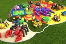 3D Playground Animals / Large, bright, sunny and funny, our animal characters bring a playground and adventure to life!