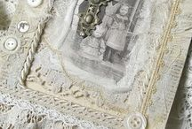 Victorian lace picture frames