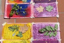 Bitki yaprağıyla desenler
