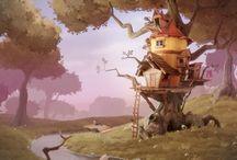 Fantasy Environment Concept Design