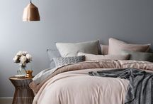 Grey Bedrooms/Decor / Grey, pale pinks, copper, rose gold ... your dream.