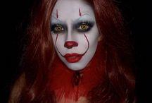 makeup clown halloween