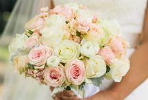 Różowe bukiety ślubne