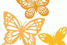 filigrán pillangók