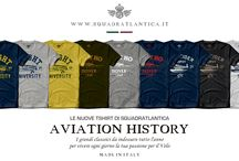T-Shirts / A serie of pure and essential products, made to become classics worn by all aviation enthusiasts. Made in Italy and offered to an extremely favorable price, a special and perfect gift for all those who love aviation history and want to wear it every day.