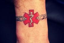 Medical tattoos / #Medical #MedicalAlert #Allergy #Cancer #Pacemaker #Survivor #Tattoo #Tattoos #Tattooed #Skinart #Tat #Tattooart #Art #Design #Tattoodesign #Tatooisme #Tattooism #Ink #Inked
