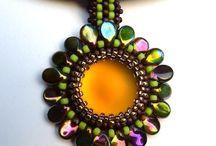 SeaBeads Beaded Pendants / More of my beadwork can be seen on my website: https://seabeads.wordpress.com