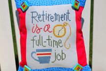 Retirement cross stitch