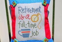 Retirement cross stitch