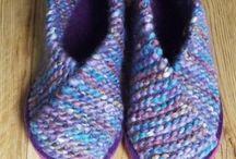 tejido pantuflas