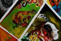 PICTURI  2- creatii  personale / Tehnici diverse.  http://biancadavid.blogspot.com/   O parte din tablourile expuse pe blog sunt inca disponibile pentru vanzare