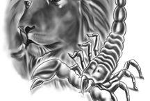 tattoo löwe+skorpion
