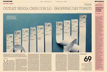 Handmade Data Visualization / Moda24, weekly fashion supplement at Il Sole 24 Ore, leading Italian financial newspaper