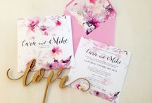 Floral wedding invitations / The latest floral inspired trends