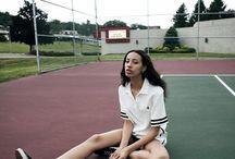 Sporty Tennis Court