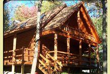 Lodges / Mijn grote droom!! Een prachtig, robuust houten huis met 5/6/ skaapkamers. Het liefst van ronde balken, maar als het moet zijn vierkante balken ook welkom ;-)