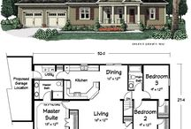 Ranch Floor Plans / by Mandy Ornelas