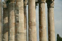 temple, pillars