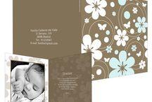 Tarjetas de agradecimiento de bautizo / Tarjetas de agradecimiento para enviar a los invitados al bautizo de tu bebé. ¡Da las gracias por asistir!