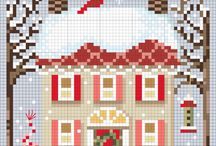 Christmas cross stitch / Schemi natalosi