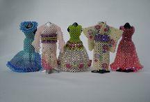 3D beading dresses