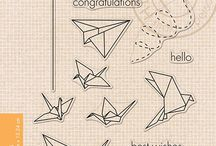 HERO ARTS CLEAR STAMP, ORIGAMI ANIMALS