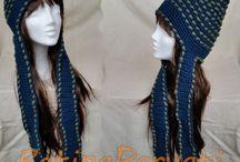 Slouchy beanie crochet hats by Betina Parvati / Slouchy beanie crochet hats made by Betina Parvati