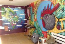 Arte Urbano / Murales dentro de las instalaciones hechos por grandes amigos y artistas