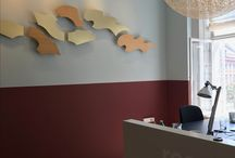 Wall design - office & hospitality / Explore the possibilities for creating and customizing a wall decoration/wall art that fits your office or other corporate setting. Perfect for entrance areas, meetings rooms, receptions, hotel lobbys etc.