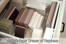 organizing for  card making