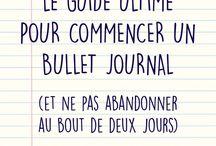 Bullet journal | Inspiration | Organisation