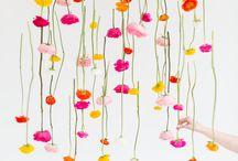 DIY hanging flowers