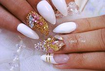 Nails - White & ... mani