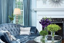 Blue living rooms / Examples of how you can decorate a living room with blue
