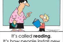 Humor / Viñetas de humor para la página de inicio de la Biblioteca Francisco de Vitoria