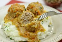 Porcupine meatballs with yummy sauce