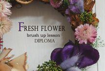 【Brush UP Lesson】in Tokyo / 東京/世田谷JFLA本部華夢フラワーデザインスクールにて開催されているブラッシュアップレッスンです。会員様のご要望に合わせてブラッシュアップレッスンはカスタマイズできます。