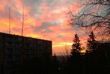 Západ a východ slnka